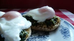 Ouă românești cu spanac