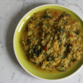 Linte cu spanac și orez (de la 1 an)