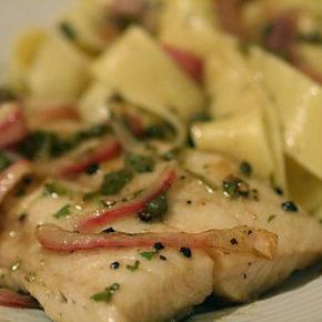 Pește la cuptor cu sos tahini (de la 1 an)