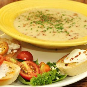 supă cremă de cartofi cu usturoi