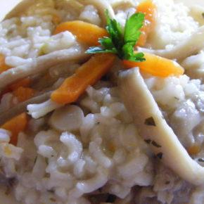 orez cu ciuperci pleurotus