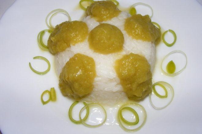 orez cu piure de dovlecel si praz