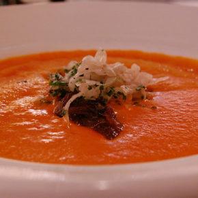 Supă Gaspacho cu ardei gras (de la un an)