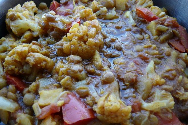 curry de linte cu conopidă