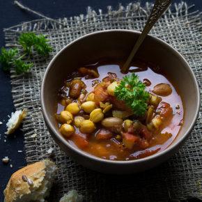 supă marocană de linte și năut - Harira