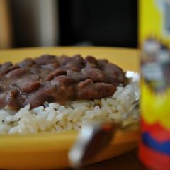 Mâncare de fasole cu orez (de la 10 luni)