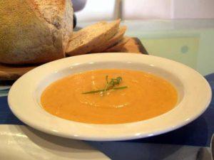 supă cremă de cartof dulce