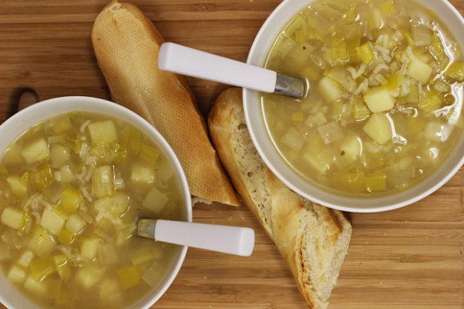 supă de praz și cartofi