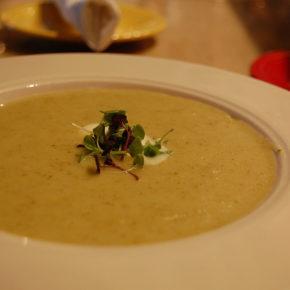 supă cremă de broccoli cu tahini