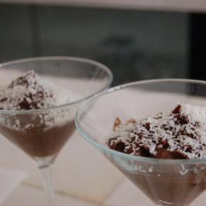 mousse de ciocolată cu migdale