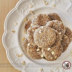 prăjituri cu migdale și cocos la rece