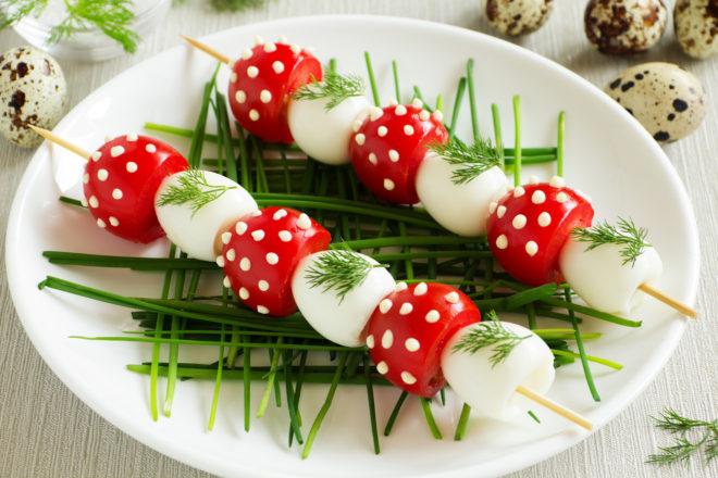 frigărui cu ouă de prepeliță