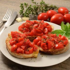 Bruschete pomodoro (de la 1 an)