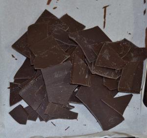 fulgi de ciocolată