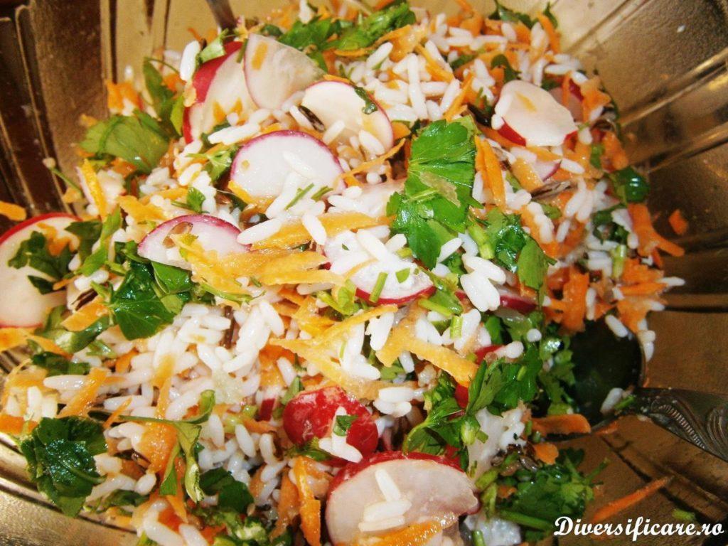 Salată de orez sălbatic și legume