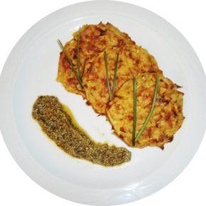 Latkes sau clătite cu cartofi (de la 1 an)