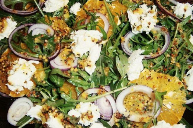Salată de rucola şi mozzarella