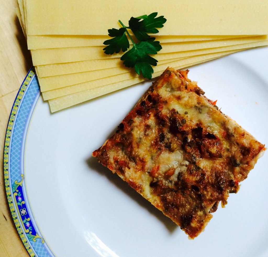 Lasagna cu gălbiori și spanac