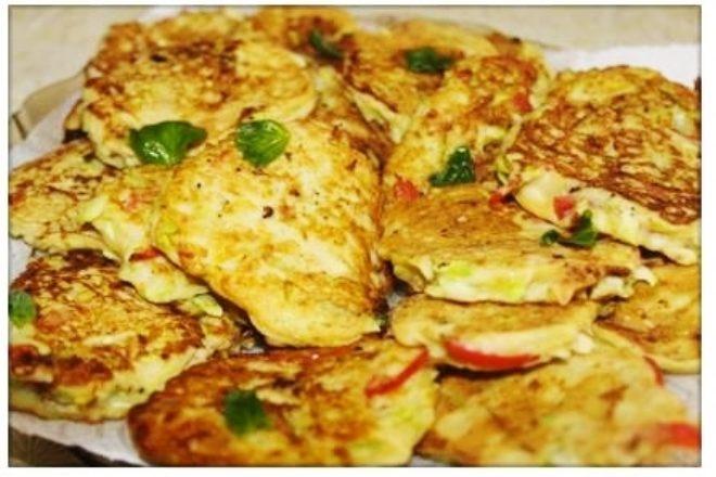 Mini omlete cu dovlecei