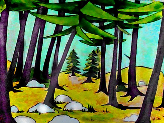 peisaj pt ursul berry padurea pentru site