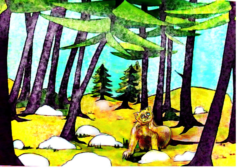 peisaj complet cu ursul berry pentru site