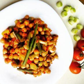 Mâncare de năut cu legume (de la 10 luni)
