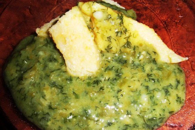Ciulama de lobodă verde şi lapte de soia