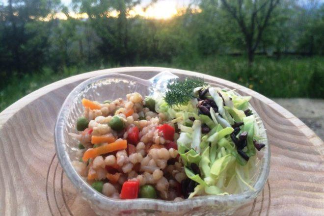 pilaf de hrișcă și legume