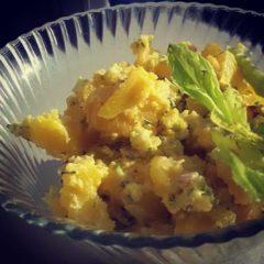 Salată de cartofi cu sos de avocado (de la 8 luni)