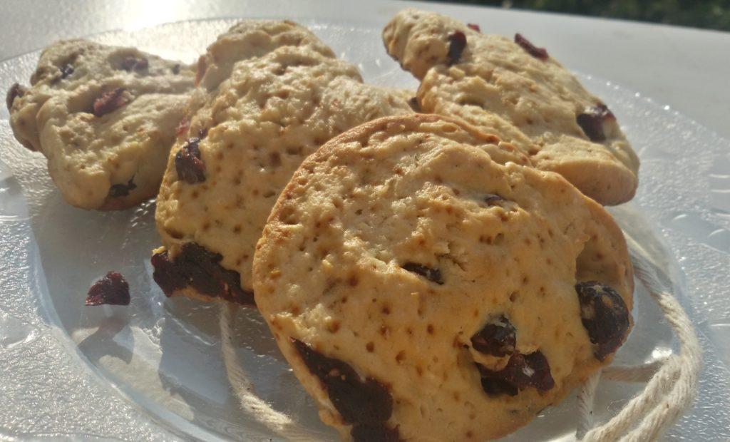 Biscuiţi de casă cu cocos şi merişoare